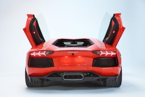 Lamborghini Aventador LP700-6 back view
