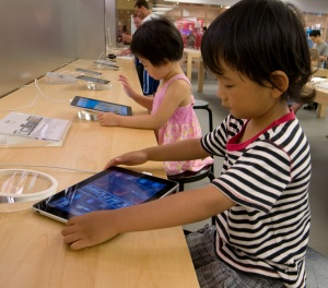 Kids with iPad